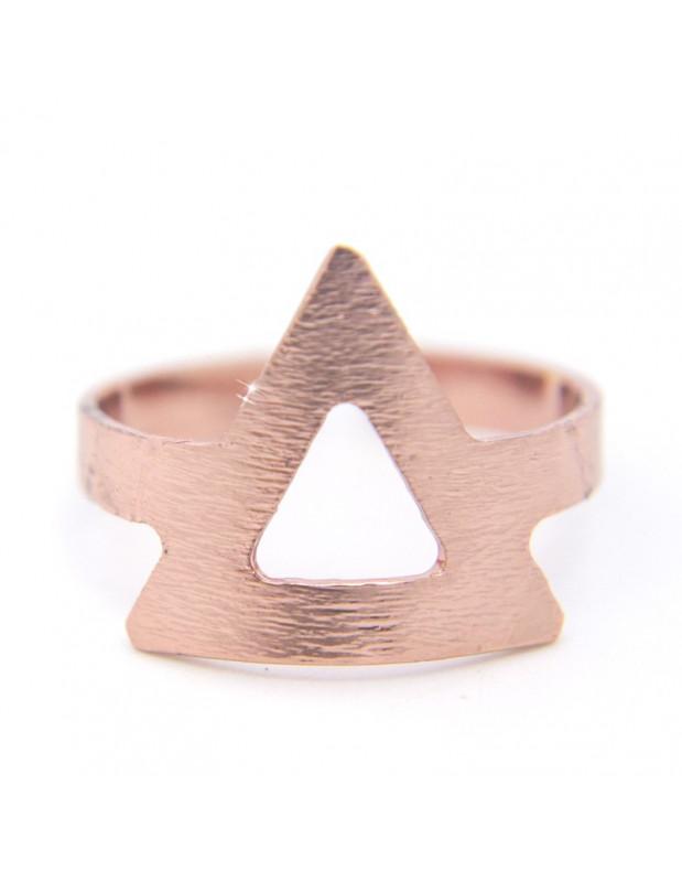Ring für kleinen Finger aus Bronze rosegold ELIS