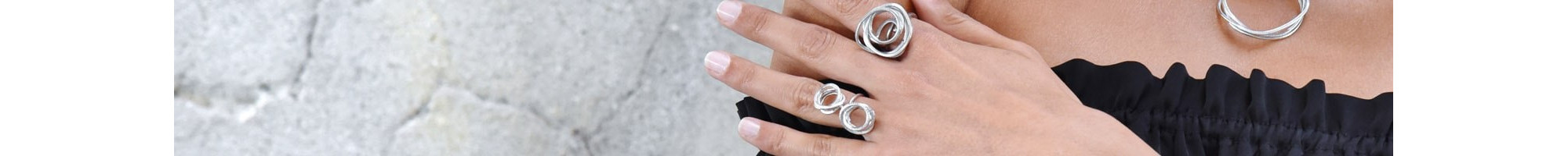 Silver colored Women's Rings | Exclusive designs online at BIJOU BOX